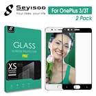 [2 Pack] 100% Original Seyisoo Real 2.5D 0.3mm 9H Full Cover Tempered Glass Screen Protector For OnePlus 3 3T One Plus 1+3 Film