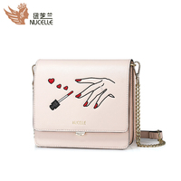 NUCELLE Small Women Red Nails Messenger Bag 2017 New Fashion Good Quality Mini Shoulder Cluth Ladies