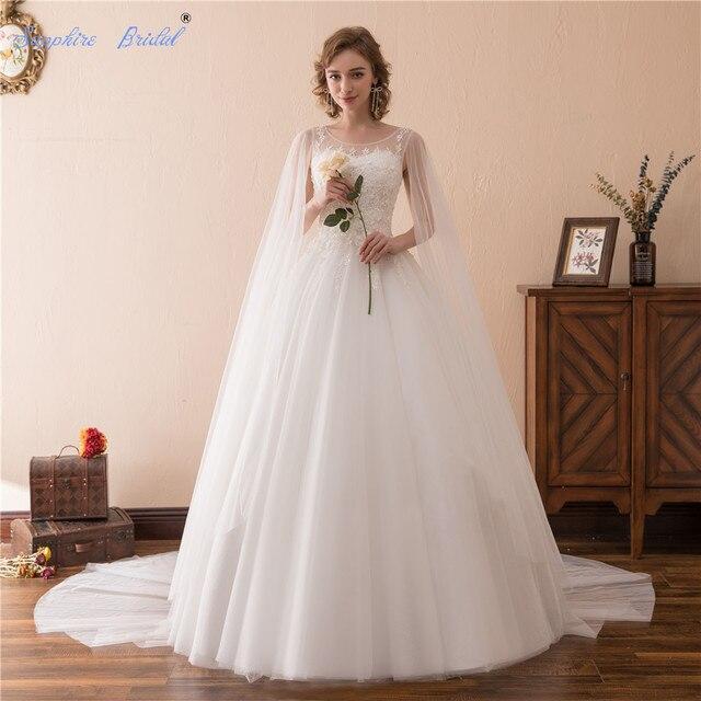 Aliexpress.com : Buy Sapphire Bridal Vestido De Noiva Vintage Ball ...