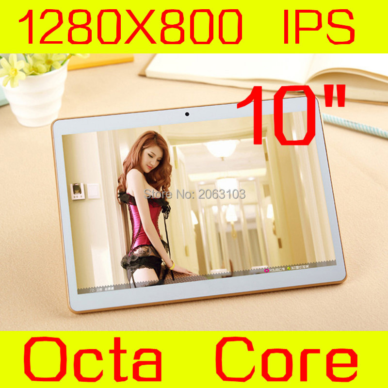 2017 New Android 5.1 Tablets PC Tab Pad 10 Inch IPS 1280×800 Octa Core 4GB RAM 32GB ROM Dual SIM Card 3G Phone Call 10″ Phablet