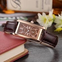 Muhsein Мода и Повседневное прямоугольный ремешок кварцевые часы модные спортивные Повседневное Бизнес Водонепроницаемый Для женщин часы