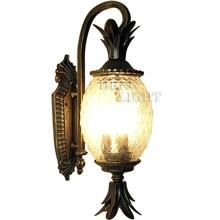 European Style Outdoor Modern wall lamps Pineapple Shape Glass +Aluminum Garden Wall Lamp outdoor lighting  use E27 bulbs