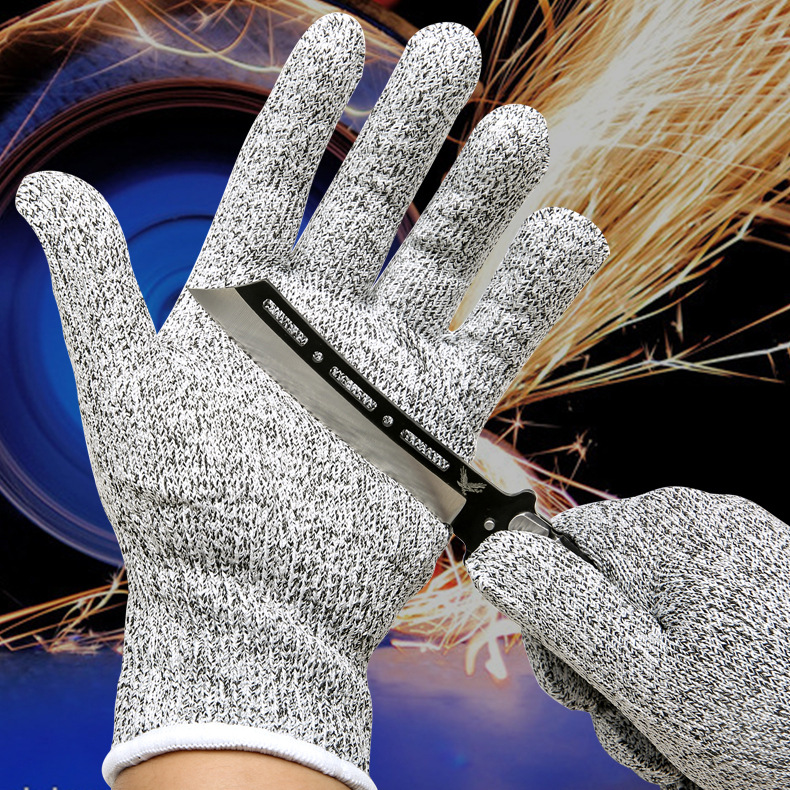 5 Pairs Of High-Performance 5-Level Protection Anti Cutting Protection Gloves Resistant Gloves Kitchenn Workplace Safety Gloves