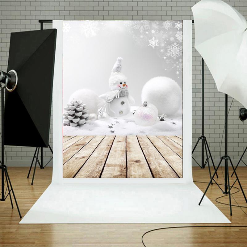 3x5ft Christmas Theme Photography Vinyl Background Christmas Snowman Photographic Backdrops 3D effects for Studio Photo Props piano backdrops wooden floor wedding stor photo props background vinyl 5x7ft or 3x5ft