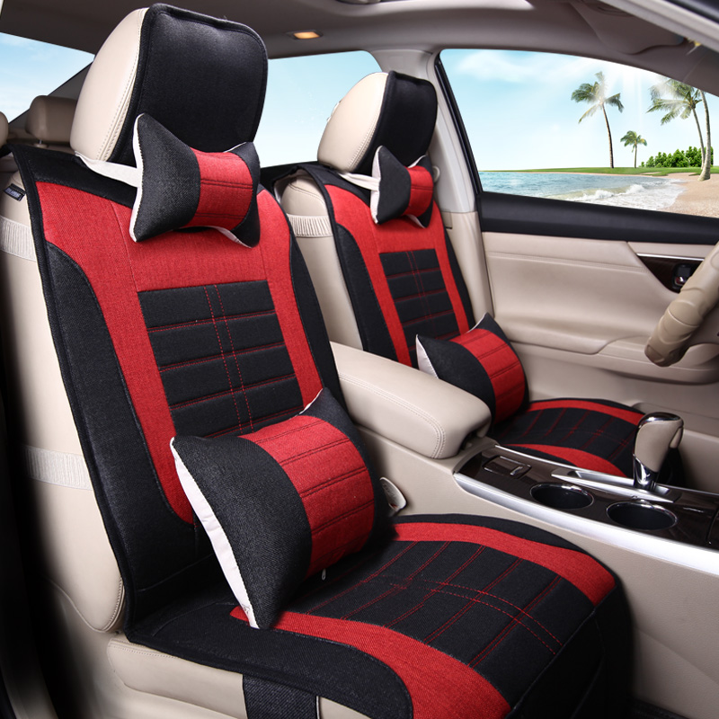 3D Styling Car Seat Cover Flax Cushion For Hyundai i30 ix35 ix25 Elantra Santa Fe Sonata Tucson 2016 Solaris Veloster Accent, bigbigroad for hyundai tucson santa fe sonata 9 i30 veloster ix25 car wifi dvr dual cameras car black box video recorder dashcam