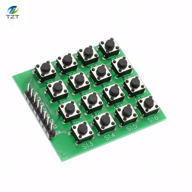 0adf49998f1 4x4 Matrix 16 Keypad Keyboard Module 16 Button Mcu for Arduino-in ...