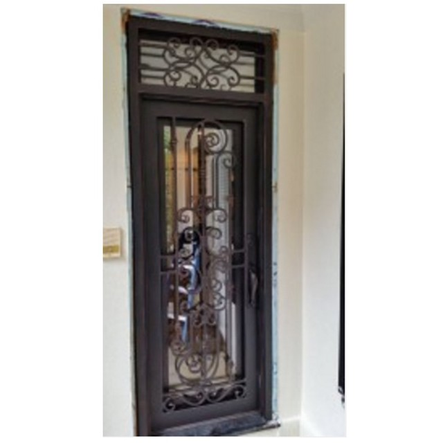 Steel Entrance Doors Residential Heavy Duty Security Entry Arch Top