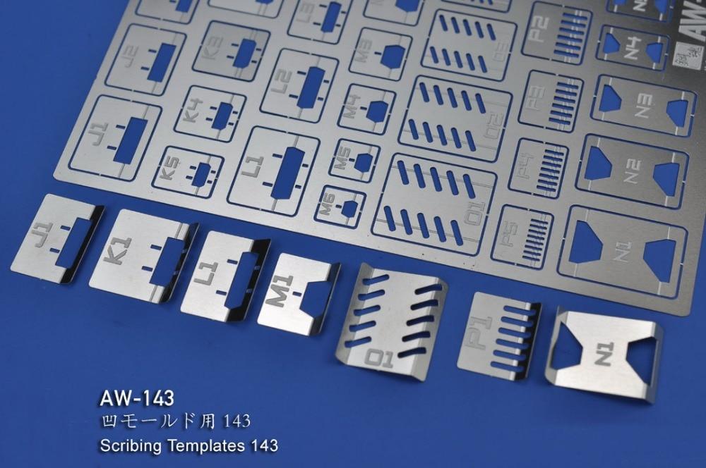 Гравировальные детали для шаблонов Gundam Scribing AW143, фототравленные листы (PE), оптовая продажа