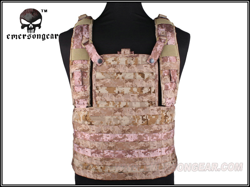 EMERSON MOLLE RRV Tactical Vest Front Panel Airsoft Paintball Military Army Combat Gear AOR1 EM7443A