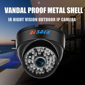 Image 2 - BESDER geniş açı 2.8mm Vandal geçirmez 1080P IP kamera Dome su geçirmez 48 adet IR LED kapalı açık ağ IP kamera IR kesim ONVIF