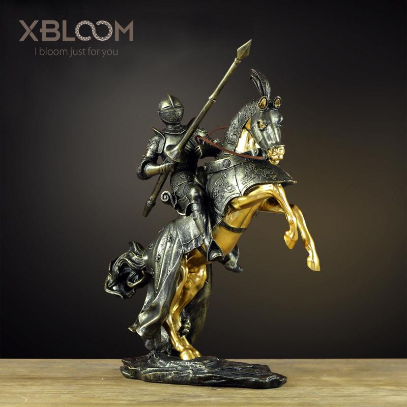 Roman Knight Statue Medieval Knight Princess Decoration American Home Office Window Decoration Wedding Decoration Christmas Gift
