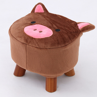 2018 Direct Selling Chinese Porcelain Taburetes Child Cartoon Stool Wood Shoes Tea Table Home Small Chair Sofa Bench Modern