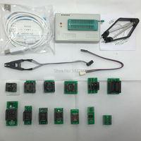 במהירות גבוהה האוניברסלי TL866 TL866A minipro מתכנת \ תמיכת ICSP תמיכת FLASH \ EEPROM MCU + 13 מתאמים + IC קליפ מבחן מהדק \