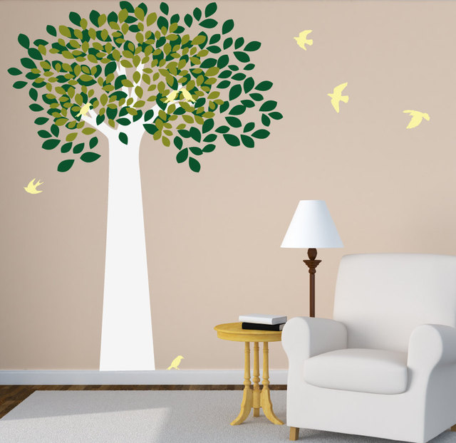 Large Tree Wall Decal With Birds For Kids Baby Nursery Room Home Decor DIY Playroom  Wall