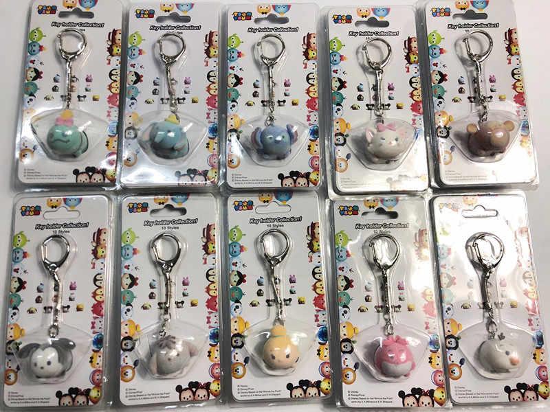10 pçs/lote Tsum Tsum Brinquedos Chaveiros Bonito Dolls Figuras de Ação Minnie Mickey Olá Kitty Brinquedos para As Crianças Crianças Chaveiros decoração