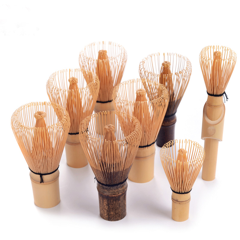 Professional Handicrafted Bamboo Matcha Chasen Green Tea Powder Whisk Holder Scoops 8Pondate Japanese Tea Ceremony Tools Giftset