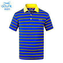 Brand OCLUNLC men golf T shirt summer sports short sleeve polo shirt outdoor golf training garment golf striped shirts tops