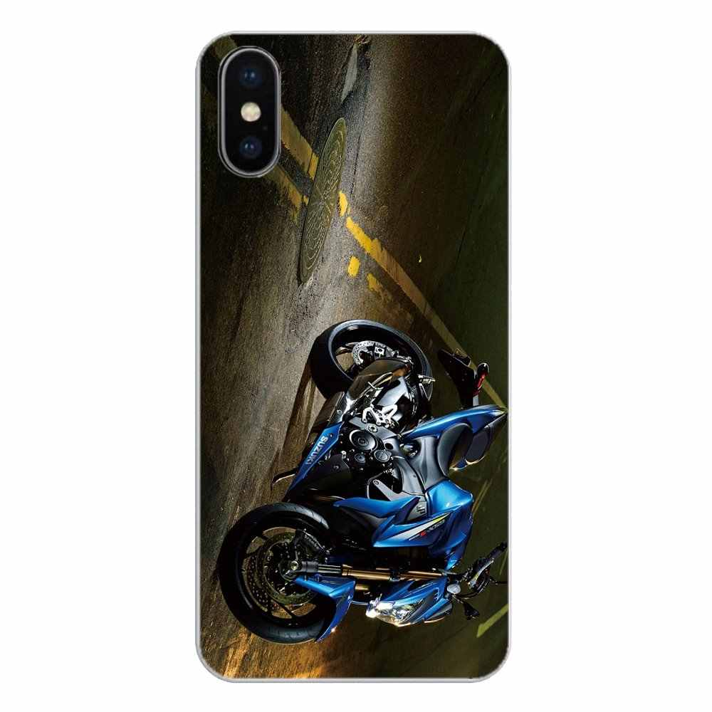 Suzuki Gsxr 1000 2016 Motorcycle Logo For Motorola Moto X4 E4 E5 G5 G5S G6 Z Z3 G3 C Play Plus Soft Transparent Shell Covers