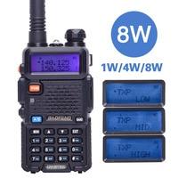 BaoFeng UV 5R 8W powerful Walkie Talkie 8Watts 10KM long range Two way CB radio uv 5r handheld uv5r