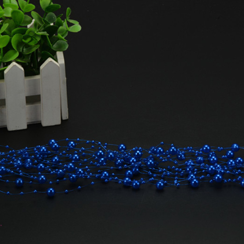 Free Shipping 5M Fishing Line Artificial Pearls Beads Chain Garland Flowers DIY Wedding Party Decoration Products Supply 3