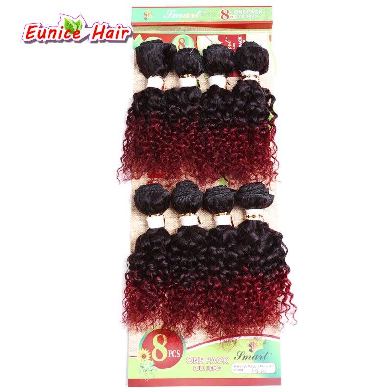 Ombre 6A глубокая волна 8 Связки один пакет Малайзии глубоко вьющиеся волосы 8 Связки русый странный вьющихся волос, плетение Малайзии свободна...