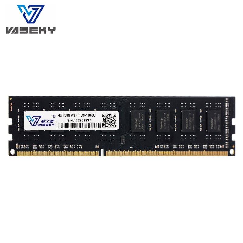 Vaseky 4 gb 8 gb 2 gb Mémoire PC RAM Mémoire Module Ordinateur De Bureau PC3 12800 10600 DDR3 1333 mhz 1600 mhz 2g 4g 8g 16 gb 1333 1600