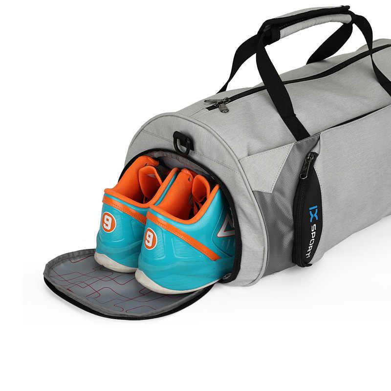 2019 Sport sac de Sport dame femmes Fitness voyage hommes sac à main en plein air femme sac à dos avec espace séparé pour les chaussures