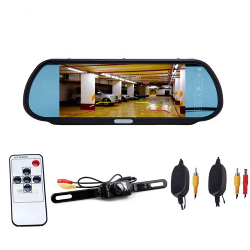 2018 7 TFT LCD Color HD Screen Display Car Rear View Backup Parking Mirror Monitor with Night Vision Camera XNC 7 inch tft lcd touch screen car rearview mirror monitor backup camera