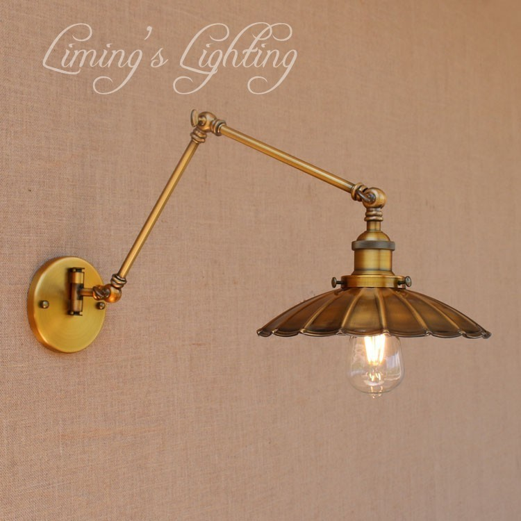 Loft Style Antique Swing Arm Rotate Wall Sconce Bedside Wall Lamp Edison Vintage Wall Light Fixtures Home Indoor Lighting loft style swing arm edison wall sconce bedside wall lamp antique iron vintage wall light fixtures for home indoor lighting