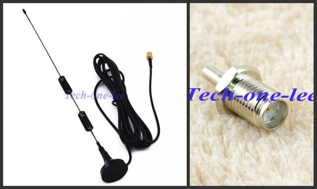 5 unidades 4G 5dbi Antena LTE 3g 4g lte Antena 698-960/1700-2700 Mhz SMA masculino RG174 3 M Antena + un Adaptador SMA Hembra a Macho CRC9