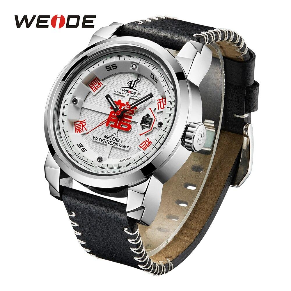 WEIDE Luxury Brand Army Military Sports Watches Quartz Clock Analog Leather Strap Band Wristwatch Relogio Masculino men's hour