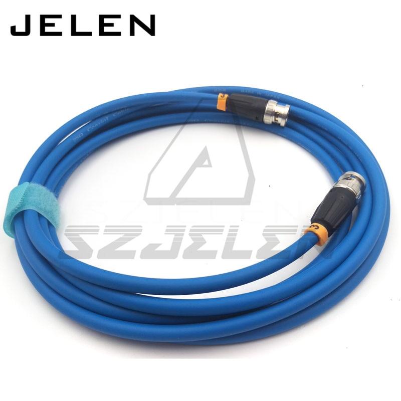 Neutrik BNC PLUG TO BNC, HD SDI Video coaxial Cable, Canare 75 ohm cable LV-61S, 75 OHM blue cable 3M 95 850 160m150 rf cable assemblies hd bnc sr pl hd bnc sr pl mr li