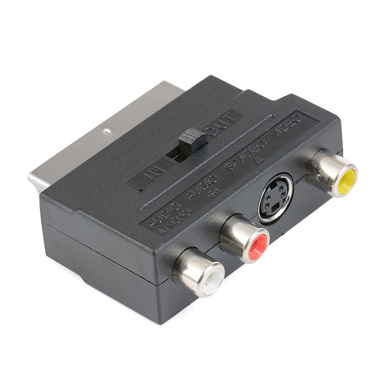 SCART Male to 3 RCA Female S-Video AV Video R+L Audio Connector Scart AV S-Video R L Audio Video Adapter Converter Scart RCA ...