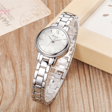 hot deal buy kimio simple thin dial gear-like bezel rose gold womens watches top brand quartz bracelet lady watch women's watches wristwatch