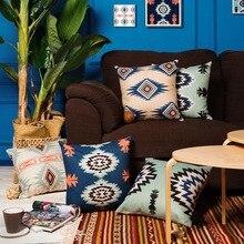 Nuevo vintage kilim estilo retro aztect algodón Lino almohada covercushion caso hogar decorativo almohada 45x45 cm