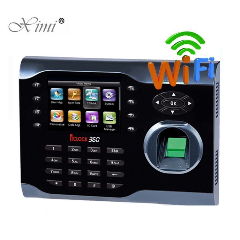 ZK Iclock360 WIFI TCP/IP USB Fingerprint Time Attendance Linux System Biometric Fingerprint Employees Attendance Time Clock