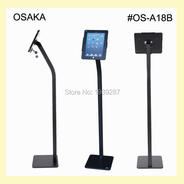 for ipad floor stand holder with security lock enclosure bracket display trade fair exhibition store for - Ipad Floor Stand