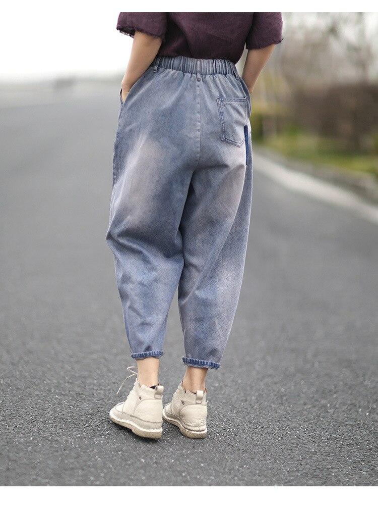 cefa0f7122 Verano Harem Damas Elástico 1 Nuevo Y Primavera Moda Pantalones Salvaje  Mujeres Mujer Superaen Jeans Casual ...