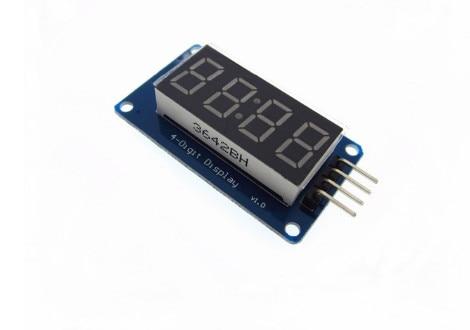 10 шт. 4 биты цифровой пробки светодиодный Дисплей модуль с часами Дисплей TM1637