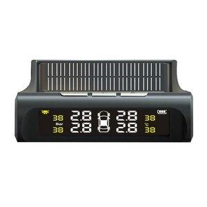 Image 1 - TPMS Tire Pressure Alarm Monitor Solar Powered Auto Tire Pressure Sensor LCD Display 4 Tires Real Time Wireless External Sensor