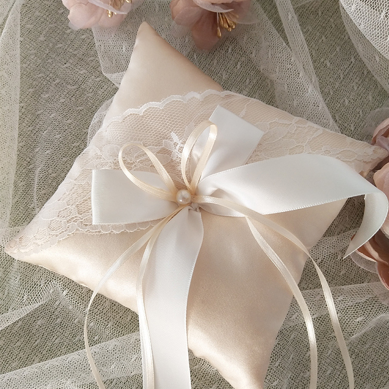 Champagne Lace Ribbon Wedding…