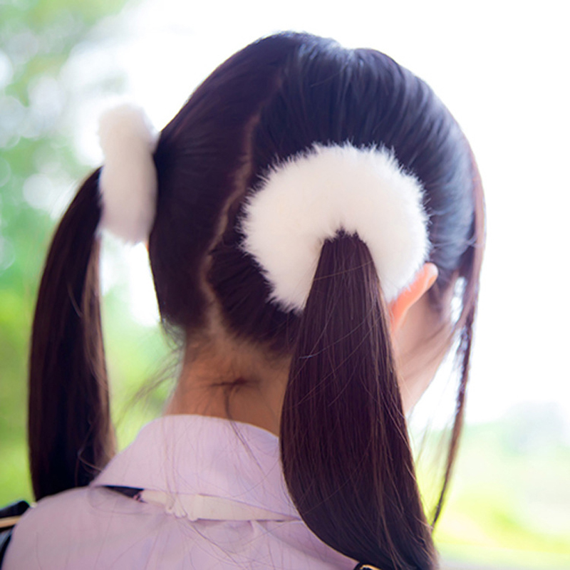 Новые Теплые на голову эластичная повязка для головы с нахлестом резинка для волос из мягкого искусственного меха для женщин и девочек Ponytai ...