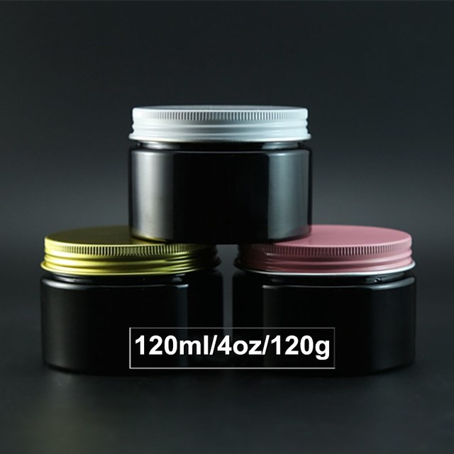 d15864f92a57f 50 X 4OZ Pink White Gold Aluminum Screw Lid Eye Cream Jar 120ml Black Salt  Bath Container Wholesale