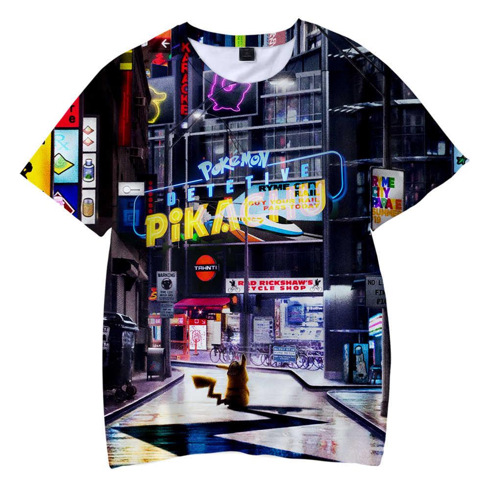 d278e041 BTS Pokemon Detective Pikachu 3D Printed Children T-shirt Fashion Summer  Short Sleeve T shirt