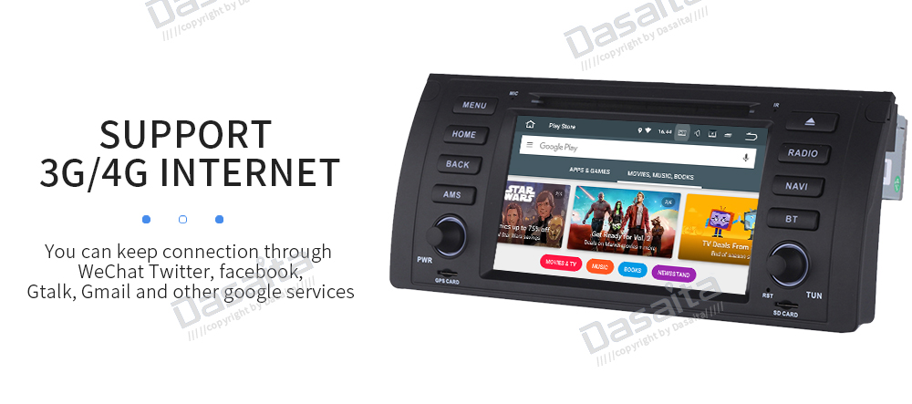 "Discount Dasaiata 7"" 1 din Android 8.0 Car Multimedia for BMW E39 E53 X5 Radio 2001 2002 2003 with Car DVD Player GPS Navi 17"