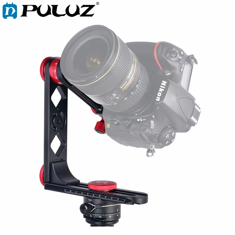 PULUZ 720 Degree Camera Panoramic Tripod Aluminum Alloy Ball Head kits &3/8 Quick Release Plate&1/4''Screw Fixed Plate for DSLR