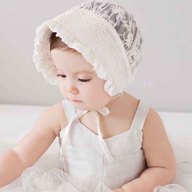 Baby Girls Hat white lace sun Hats Baby summer Girl Caps Toddler ...