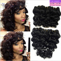 New Arrival Peruvian Virgin Hair Beauty Plus Deep Wave Hair Rosa Hair Products Peruvian Virgin Short Deep Curl Wave With Closure