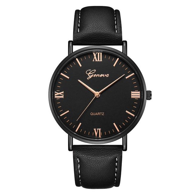 2018 Reloj Fashion Large Dial Military Quartz Men Watch Leather Sport Watches Cl