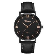 2018 Reloj Fashion Large Dial Military Quartz Men Watch Leather Sport W